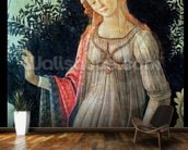 Primavera, detail of Venus, c.1478 (tempera on panel) wallpaper mural kitchen preview