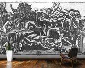 Hell, from The Divine Comedy by Dante Alighieri (1265-1321) (engraving) (b/w photo) mural wallpaper kitchen preview