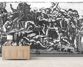 Hell, from The Divine Comedy by Dante Alighieri (1265-1321) (engraving) (b/w photo) mural wallpaper living room preview