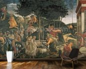 The Youth of Moses, in the Sistine Chapel, 1481 (fresco) (for detail see 315896) wallpaper mural kitchen preview