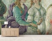 Detail of Venus and the Graces offering gifts to a young girl, 1486 (fresco) (see also 33760) mural wallpaper living room preview