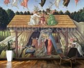 Mystic Nativity, 1500 (oil on canvas) wall mural kitchen preview
