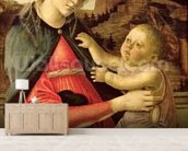 The Virgin and Child (Madonna of the Guidi da Faenza) c.1465-70 (oil on panel) wallpaper mural living room preview