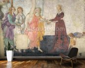 Venus and the Graces offering gifts to a young girl, 1486 (fresco) (for detail see 315895) mural wallpaper kitchen preview