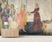Venus and the Graces offering gifts to a young girl, 1486 (fresco) (for detail see 315895) mural wallpaper living room preview