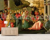 Adoration of the Magi, c.1470 (tempera on panel) wall mural living room preview