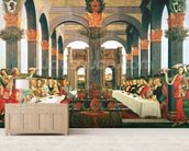 The Wedding Feast wallpaper mural living room preview
