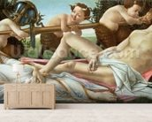 Venus and Mars, c.1485 (tempera and oil on panel) wall mural living room preview
