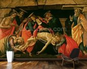 Lamentation of Christ. c.1490 (oil on panel) wallpaper mural kitchen preview