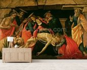 Lamentation of Christ. c.1490 (oil on panel) wallpaper mural living room preview