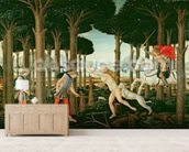 Nastagios Vision of the Ghostly Pursuit in the Forest: Scene I of The Story of Nastagio degli Onesti, c.1483 (tempera on panel) wall mural living room preview
