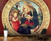 Virgin and Child with John the Baptist mural wallpaper kitchen preview
