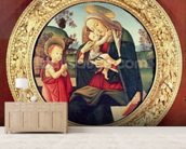 Virgin and Child with John the Baptist mural wallpaper living room preview