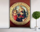 Virgin and Child with John the Baptist mural wallpaper in-room view
