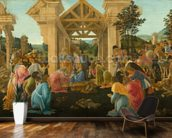 The Adoration of the Magi, c.1478-82 (tempera & oil on panel) wallpaper mural kitchen preview