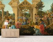 The Adoration of the Magi, c.1478-82 (tempera & oil on panel) wallpaper mural living room preview