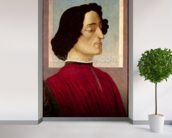 Portrait of Giuliano de Medici (1478-1534) c.1480 (tempera on panel) mural wallpaper in-room view