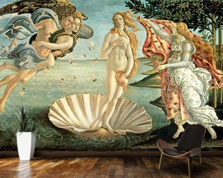 The Birth of Venus, c.1485 (tempera on canvas) Wallpaper Wall Murals