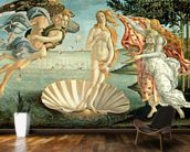The Birth of Venus, c.1485 (tempera on canvas) mural wallpaper kitchen preview