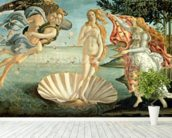 The Birth of Venus, c.1485 (tempera on canvas) mural wallpaper in-room view
