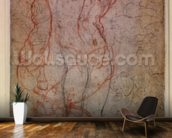 Study of Figures and the Creation of Adam (pencil & red chalk on paper) (verso) mural wallpaper kitchen preview