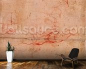 Preparatory Study for the Punishment of Haman (red chalk & charcoal on paper) (verso) mural wallpaper kitchen preview