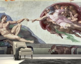 Sistine Chapel Ceiling (1508-12): The Creation of Adam Wallpaper Wall Murals