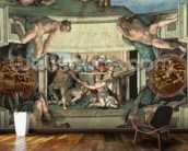 Sistine Chapel Ceiling (1508-12): The Sacrifice of Noah, 1508-10 (fresco) wall mural kitchen preview