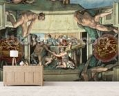 Sistine Chapel Ceiling (1508-12): The Sacrifice of Noah, 1508-10 (fresco) wall mural living room preview