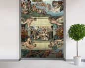 Sistine Chapel Ceiling (1508-12): The Sacrifice of Noah, 1508-10 (fresco) wall mural in-room view
