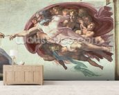 Sistine Chapel Ceiling: The Creation of Adam, detail of God the Father, 1508-12 (fresco) (post restoration) wallpaper mural living room preview