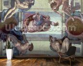 Sistine Chapel Ceiling (1508-12): The Separation of the Waters from the Earth, 1511-12 (fresco) wall mural kitchen preview