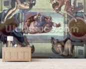 Sistine Chapel Ceiling (1508-12): The Separation of the Waters from the Earth, 1511-12 (fresco) wall mural living room preview