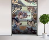 Sistine Chapel Ceiling (1508-12): The Separation of the Waters from the Earth, 1511-12 (fresco) wall mural in-room view