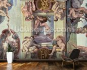 Sistine Chapel Ceiling (1508-12): The Creation of Eve, 1510 (fresco) (post restoration) wallpaper mural kitchen preview