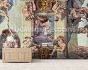 Sistine Chapel Ceiling (1508-12): The Creation of Eve, 1510 (fresco) (post restoration) wallpaper mural living room preview