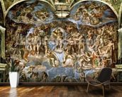 Sistine Chapel: The Last Judgement, 1538-41 (fresco) (pre-restoration) wallpaper mural kitchen preview