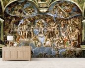 Sistine Chapel: The Last Judgement, 1538-41 (fresco) (pre-restoration) wallpaper mural living room preview