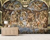 Last Judgement, from the Sistine Chapel, 1538-41 (fresco) wall mural living room preview