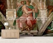 Sistine Chapel Ceiling: The Prophet Isaiah (fresco) wallpaper mural living room preview