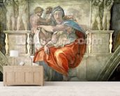 Sistine Chapel Ceiling: Delphic Sibyl (fresco) mural wallpaper living room preview