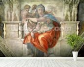 Sistine Chapel Ceiling: Delphic Sibyl (fresco) mural wallpaper in-room view