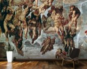 The Righteous Drawn up to Heaven, The Last Judgement, Sistine Chapel, c.1508-12 wall mural kitchen preview