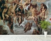 The Righteous Drawn up to Heaven, The Last Judgement, Sistine Chapel, c.1508-12 wall mural in-room view