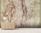 Study for David (pen & ink on paper) wallpaper mural living room preview