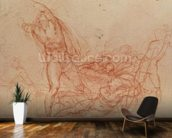 The Resurrection of Christ, c.1536-38 (red chalk on paper) mural wallpaper kitchen preview