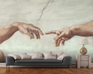Hands of God and Adam,The Creation of Adam, Sistine Ceiling, 1511 Wallpaper Wall Murals