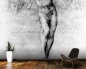 Christ on the Cross (chalk on paper) wallpaper mural kitchen preview