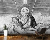 Pieta, engraved by Giulio Bonasone (engraving) mural wallpaper kitchen preview