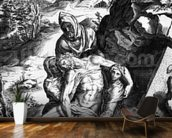 Pieta, engraved by Alberti Cherubino (engraving) wall mural kitchen preview